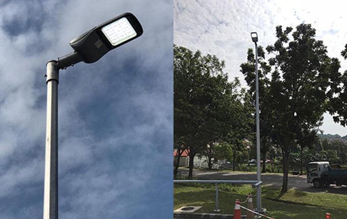100w led street light project case-1