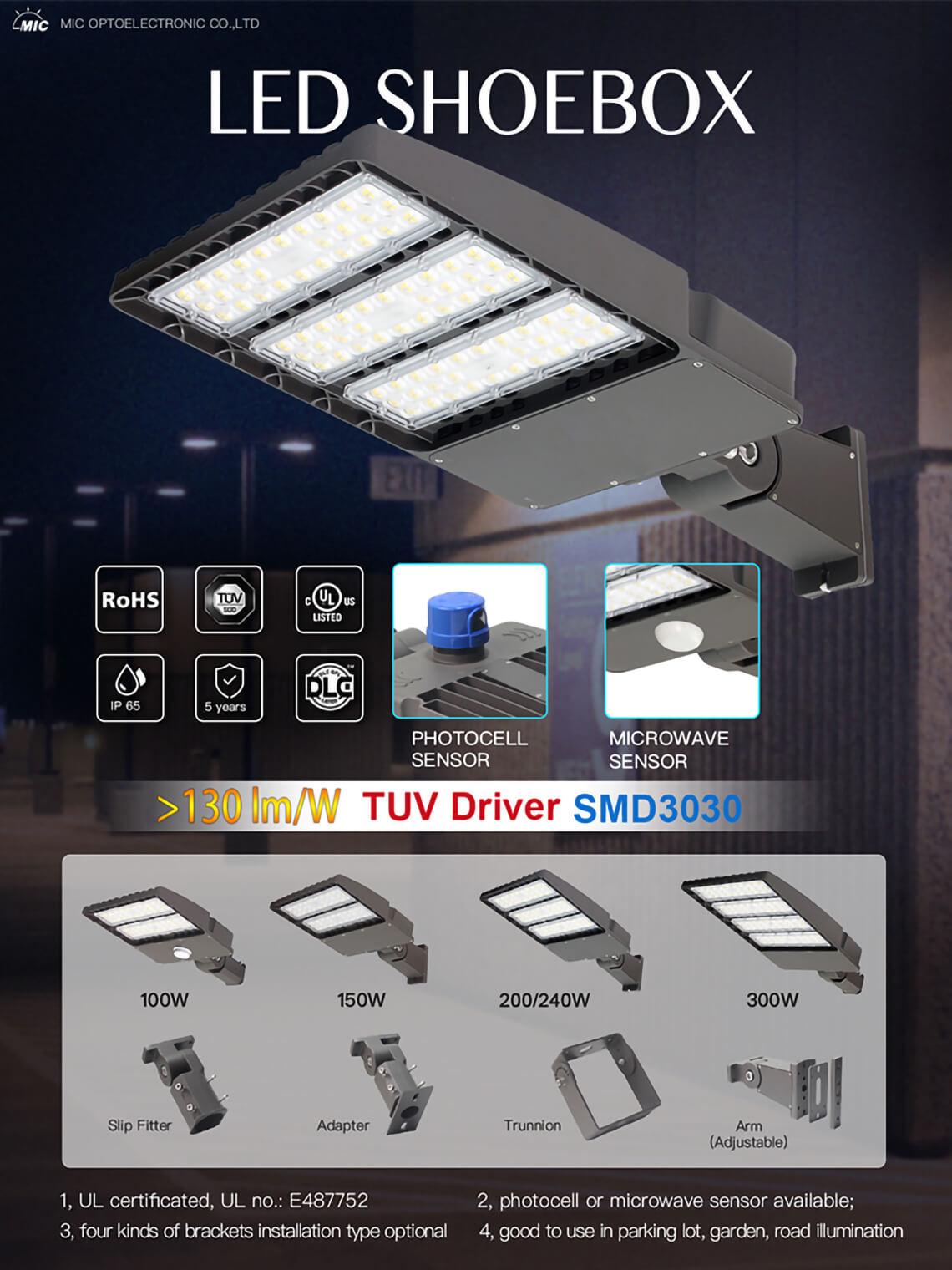 150w LED Shoebox Lights